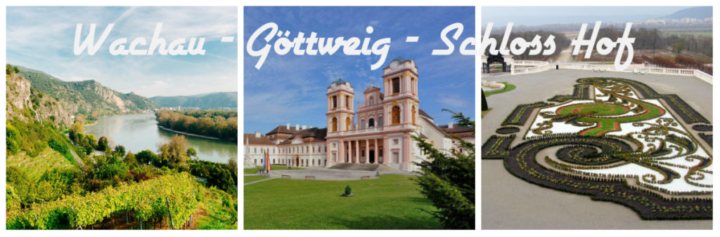 collage Wachau Göttweig Schlosshof