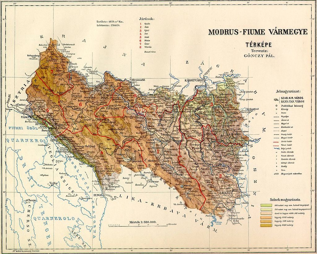 Modrus-Fiume_County_Map