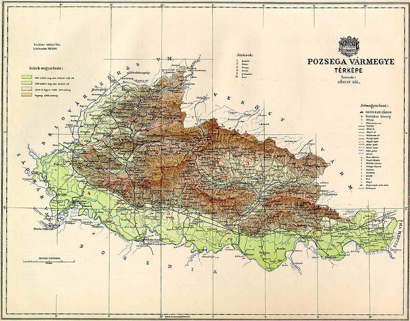 Pozsega_County_Map